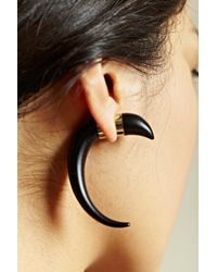 Givenchy - Black Givenchy Womens Magnetic Horn Earring - Lyst