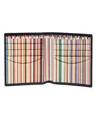 Paul Smith | Black Billfold Multi Stripe Wallet for Men | Lyst