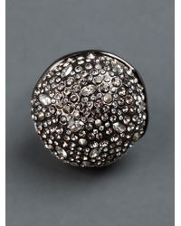 Alexis Bittar | Gray Crystal Studded Ring | Lyst
