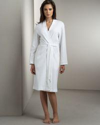Hanro | White Short Waffle-knit Robe | Lyst