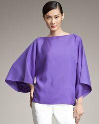 Ralph Lauren Black Label | Purple Vivian Cape-sleeve Blouse | Lyst