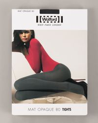 Wolford | Black Matte Opaque 80 Tights | Lyst