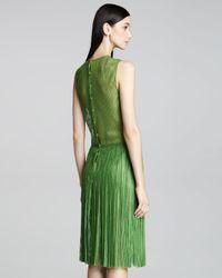 Akris - Green Micro-pleated Dress - Lyst