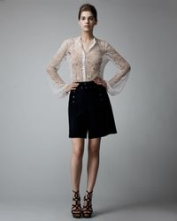Alexander McQueen | Black Crepe Sailor Shorts | Lyst