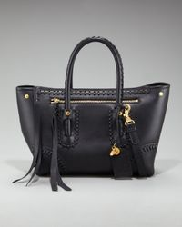 Alexander McQueen | Black Whipstitched Shopper Tote, Small | Lyst