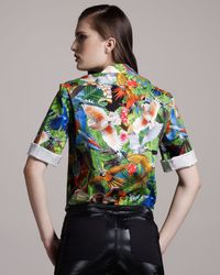 Altuzarra - Green Palm-print Blouse - Lyst