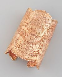 Aurelie Bidermann | Pink Lace Cuff Rose Gold | Lyst