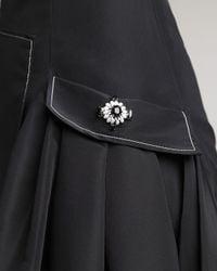 Carolina Herrera Black Silk Faille Dress