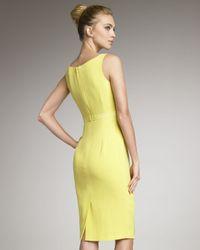 Carolina Herrera Yellow Ruffled Crepe Dress