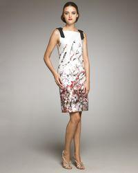Carolina Herrera | Multicolor Abstract Floral-print Dress | Lyst