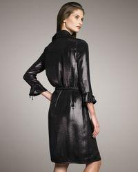 Chado Ralph Rucci - Black Metallic Shirtdress - Lyst