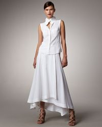 Donna Karan - White Aline Maxi Skirt - Lyst