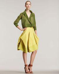 Donna Karan | Yellow Poplin Skirt | Lyst