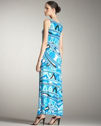 Emilio Pucci - Blue Tank Long Dress - Lyst