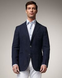 Ermenegildo Zegna | Blue Linen Blazer for Men | Lyst