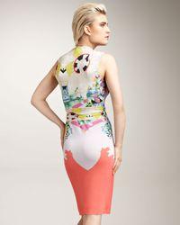 Etro Multicolor Sleeveless Faux-wrap Dress