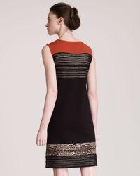 Giambattista Valli   Black Insetstripe Dress   Lyst