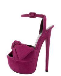 Giuseppe Zanotti - Purple Bow-detail Platform Sandal - Lyst