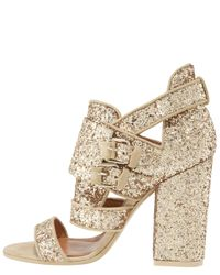Givenchy - Metallic Armor Glitter–embellished Sandals - Lyst