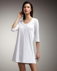 Hanro - White Lace-trim Bigshirt - Lyst