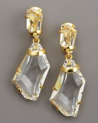 Kenneth Jay Lane Multicolor Crystal Drop Earrings