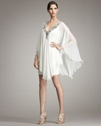 Marchesa - White Floaty Caftan Dress - Lyst