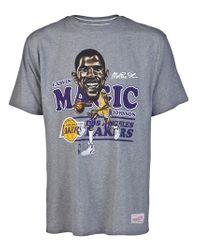Mitchell & Ness - Gray Magic Johnson Fit Tshirt for Men - Lyst