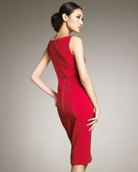 Narciso Rodriguez - Red Knee-length Sheath Dress - Lyst