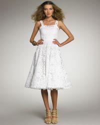 Oscar de la Renta | White Battenberg Lace Dress | Lyst
