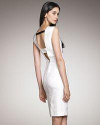 Roland Mouret Exclusive Skiffins Stretch Cotton Pique Dress, White