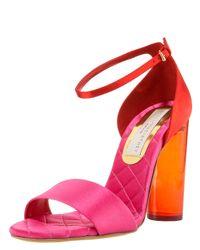 Stella McCartney Pink Acrylic-heel Colorblock Sandal