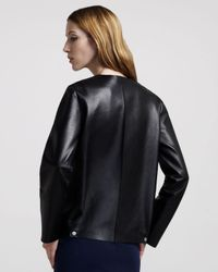 The Row - Black Double-face Leather Jacket - Lyst