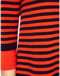 Whistles Orange Whistles Sylvie Stripe Jumper
