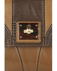 MILLY - Brown Gabriella Texturedleather Shoulder Bag - Lyst