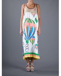 Tsumori Chisato White Printed Maxi Dress