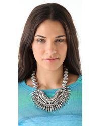 Adia Kibur - Metallic Silver Bib Necklace - Lyst