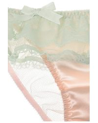 Agent Provocateur Pink Pamelina Lace and Satin Briefs