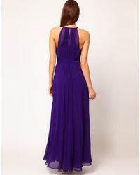 Coast - Purple Coast Halter Maxi Dress - Lyst