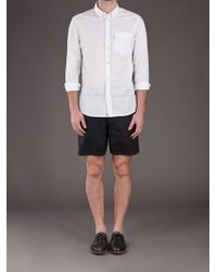 Aether Black Button Swim Short for men