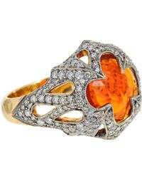 Cathy Waterman | Metallic Fire Opal Ring | Lyst