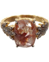 Cathy Waterman | Rustic Diamond Leafside Ring | Lyst