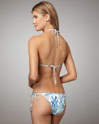 Emilio Pucci | Blue Printed String Bikini | Lyst
