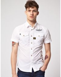 G-Star RAW | White Arizona Lawrence Shirt for Men | Lyst