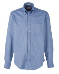 GANT Blue Yale Archive Oxford Shirt Indigo for men