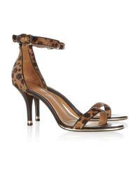 Givenchy | Multicolor Animalprint Calf Hair Sandals | Lyst