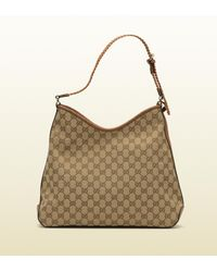 Gucci - Brown Marrakech Medium Hobo - Lyst