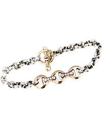Hoorsenbuhs | Metallic Diamond & Rose Gold Id Bracelet | Lyst