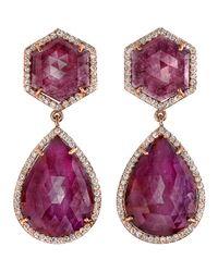 Irene Neuwirth - Pink Sapphire Diamond Earrings - Lyst