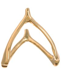 Jennifer Meyer Metallic Gold Wishbone Ring