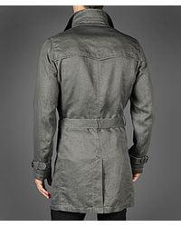 John Varvatos Gray Trench Coat for men